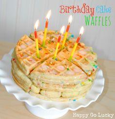 Happy-Go-Lucky: Birthday Cake Waffles