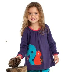 Frugi Παιδικό Απλικέ Μπλουζάκι – Σκιουράκι - Sunnyside My Ebay, Shirt Blouses, Little Ones, Organic Cotton, Applique, Lady, Squirrel, Shopping, Clothes