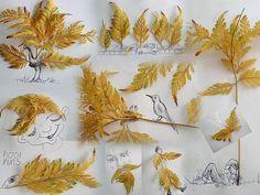 Виктор Нунес - Рисунки из листьев