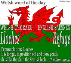 #Welsh word of the day: Lloches/ #Refuge
