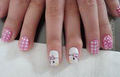 Uñas decoradas hello kitty, unas-decoradas-hello-kitty-con-esmalte.   #coloruñas #nails #uñaslindas