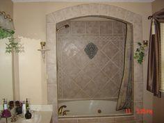 Remodeled bathroom tub
