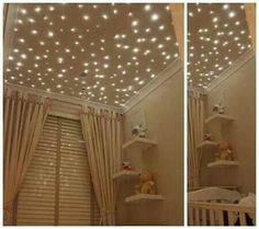 7 ways to top off your nursery for a starry ceiling consider fiber 7 ways to top off your nursery for a starry ceiling consider fiber optic lights starscape sells custom kits for this kind of project no matter aloadofball Choice Image