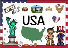 Ideenreise: Länderplakate (USA/Kanada/Großbritannien) English Day, Dream English, Learn English, Geography For Kids, World Geography, English Language Learning, Teaching English, School Presentation Ideas, Usa Culture