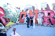 DTLV Neon Museum Elopement / Michael & Kaleigh — ASHLEY MARIE MYERS lifestyle photographer