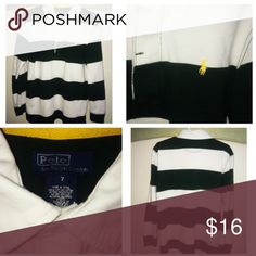 Ralph Lauren LS Polo Shirt Like•New Ralph Lauren LS Shirt • Size 7 • Excellent condition • Color is Green/White Ralph Lauren Shirts & Tops Polos