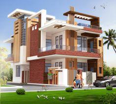 Unique House Design, House Front Design, Minimalist House Design, Door Design, House Architecture Styles, Plans Architecture, Architecture Design, 10 Marla House Plan, New House Plans