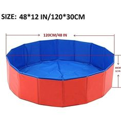 Generic Brands Foldable PVC Pet Swimming Pool Bathing Tub Suitable for Dogs Cats and other pets (Large(48X12in)) *** Find out more about the great product at the image link. (This is an affiliate link) #dogshowerbathaccessories