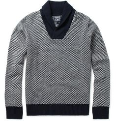 Woolrich Patterned Shawl Collar Sweater | MR PORTER