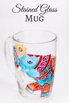 Indian Elephant Mug, Elephant Mug, Bohemian Gift, Mosaic Mug, Funny Elephant Mug, Elephant Coffee Mug, Cute Mug Stained Glass #ad #coffee #coffeelovers #tealovers #coffeemug #teacup #tea #handpainted #handmade #etsy #elephants #professionalpinner