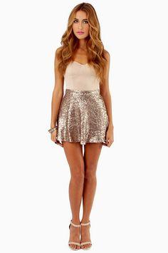 Sequin Skater Skirt ~ TOBI