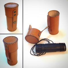 Custom monocular leather case www.cocuan.com