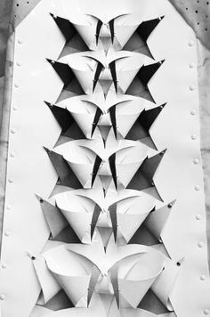 Structural fabric manipulation for fashion with an artful use of cut, fold & repetition - innovative 3D surface design // Anne Sofie Madsen by marie