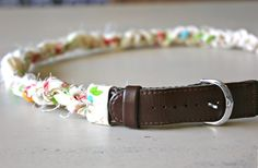 A lovely spring time belt made from a man's old watch!