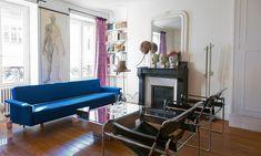 Salon Canapé Fauteuils Wassily Marcel Breuer Cheminée Appartement Diane Ducasse Créatrice DA/DA