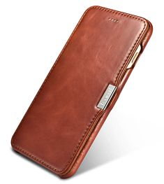iCarer iPhone 7 Plus Vintage Series Side Open Genuine Leather Case