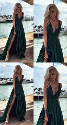 b95763e9d732b2 82 Best Deep V-Neck spaghetti straps dress images in 2019