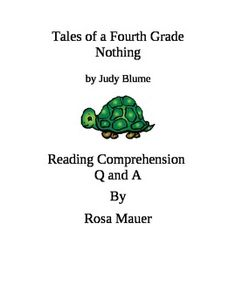 9d871813521899e57778a23929a4be89 Tales Of A Fourth Grade Nothing Reading Response Questions on