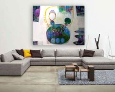 Large original abstract contemporary 3D painting  I by MirnaSisul, $1335.00