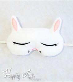 Bunny Sleep Mask ITH Embroidery Design