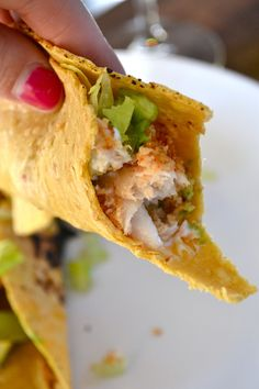 Baked Mahi Mahi Fish Tacos with Lime Crema.. Easy to make and usually have all ingredients on hand!