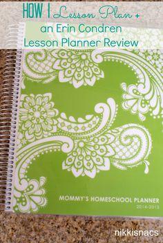 Nikkis' Nacs: The Homeschool Series - How I Lesson Plan + Erin Condren Teacher Planner Review
