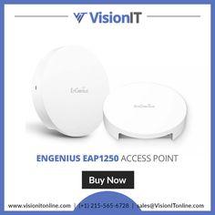 E EnGenius EnTurbo EAP1250 Indoor Next-Gen 802.11ac Wave 2 Compact Access Point