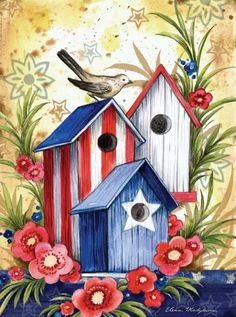 Toland Home Garden 112584 Birdhouse Trio Decorative Garden Flag, 12.5 by 18-Inch - The Birdhouse Trio Garden Flag is a high-quality, brilliant and bold flag to decorate your home any during season of the year. This top quality flag design was created by artist Elena Vladykina and was manufactured by the authority in decorative House and Garden Flags, Toland Home Garden. There... - http://ehowsuperstore.com/bestbrandsales/patio-lawn-garden/toland-home-garden-112584-birdhouse-t