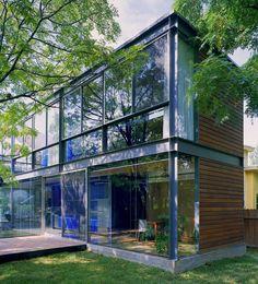 Nice wood and steel facade.