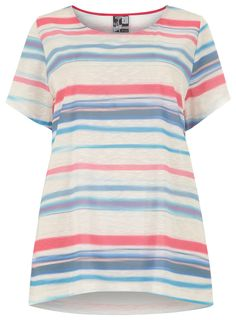 Swan by Clements Ribeiro Digital Stripes T-Shirt > www.evans.co.uk