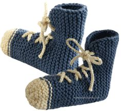 pantuflas tejiendoperu.com Knitting Socks, Knitting Stitches, Dyi Crafts, Arts And Crafts, Crochet Baby Shoes, Knitted Slippers, Baby Patterns, Embroidery, Sewing