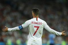 Cristiano Ronaldo of Portugal reacts during the 2018 FIFA World Cup Russia Round of 16 match between Uruguay and Portugal at Fisht Stadium on June 2018 in Sochi, Russia. Get premium, high resolution news photos at Getty Images Foto Cristiano Ronaldo, Cristiano Ronaldo Hd Wallpapers, Cr7 Ronaldo, Ronaldo Images, Ronaldo Pictures, Real Madrid Football Club, Real Madrid Players, Ronaldo Latest, Cr7 Portugal