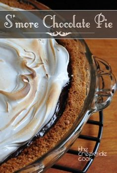 S'more Chocolate Pie - the perfect date night dessert!  | The Creekside Cook | #chocolate #pie #smore