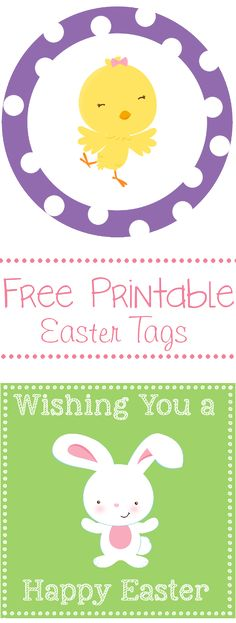 Free Printable Easter and Spring Tags-4 designs to use!