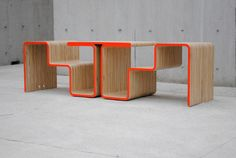 Neon Twofold Bench by After Architecture Pinned to . FURNITURE . DESIGN .
