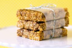 Copycat Clif Bar recipe from Brown Eyed Baker.