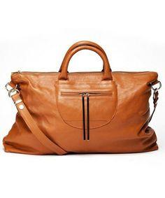 Monaco weekender bag in caramel Tote Handbags, Purses And Handbags, Pebbled Leather, Leather Bags, Leather Handbags, Beautiful Bags, My Bags, Fashion Accessories, Satchel