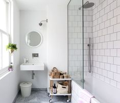 This light and bright renovated Edwardian house is stylish and serene Edwardian Bathroom, Modern Bathroom, Industrial Bathroom, Edwardian House, Bathroom Design Small, Industrial Bathroom Design, Rustic Bathrooms, Bathroom Design, Contemporary Bathroom