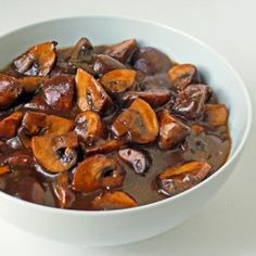 Mushroom and red wine sauce