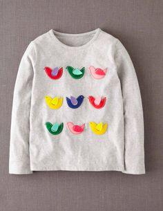 Fluttery Appliqué T-shirt