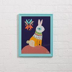 Folk Bunny Wall Art by Sarah Walsh/ | The Land of Nod