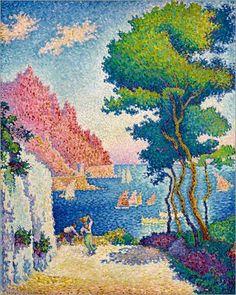 Poster 80 x 100 cm: Capo di Noli bei Genua von Paul Signac / akg-images - hochwertiger Kunstdruck, neues Kunstposter: Paul Signac: Amazon.de: Küche & Haushalt