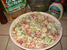 This is one of my fave recipes, I make it all the time, in fact, I have it memorized.  Hubby and kids all love it and it's so easy.  Great to take to pot lucks too.  I use light cole slaw dressing and turkey bacon to cut a few of the calories.