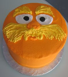 Lorax smash cake perhaps? Ok Sarah-Anne, how do we do this without food dye?