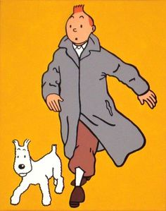 Tintin and snowy Herge Tintin, Comic Art, Comic Books, Little Brothers, Ligne Claire, Cartoon Sketches, Bd Comics, My Childhood Memories, Illustrations And Posters