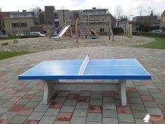 Pingpongtafel Blauw bij Speeltuin tegenover - Houtwerf 9 in Boxtel