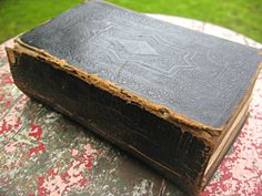 Antique Bible tooled leather gilt pages by LittleBeachDesigns, $185.00