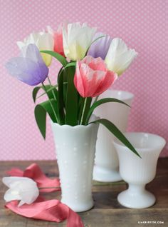 Ombre Tissue Tulips for Spring