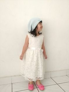 Beany and white dress.
