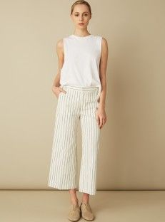 Filippa K cropped stripe trousers on Rêve En Vert